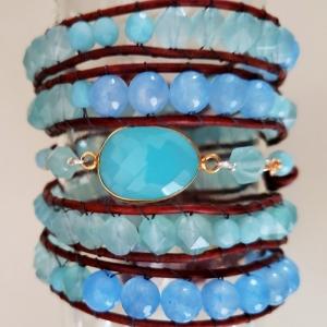 Enrapture (Wrap Bracelet in Ocean Hues)
