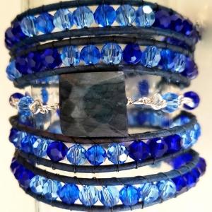 Enrapture (Wrap Bracelet with Labradorite)