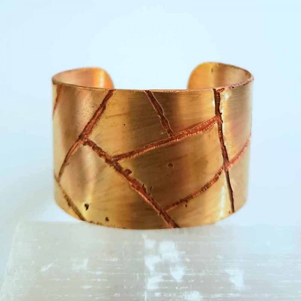 Her Strength (Golden cuff with copper accents)