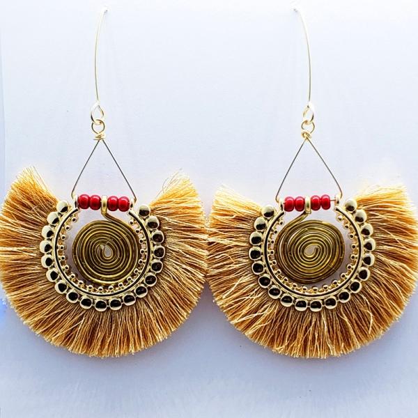 Large Fabulous Fringe Earrings