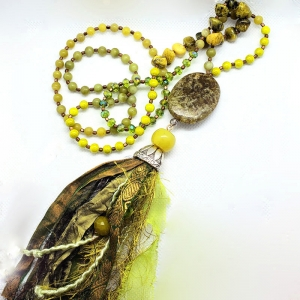 Manifestation of Magic and Miracles Heart Chakra Mala (Olive Green)