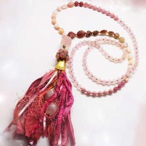 Manifestation of Magic and Miracles Heart Chakra Mala (Pink)