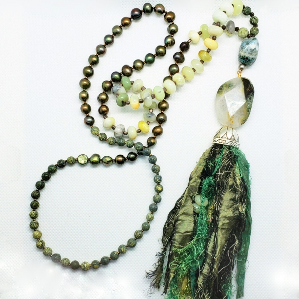 Manifestation of Magic and Miracles Heart Chakra Mala (Sage Green)