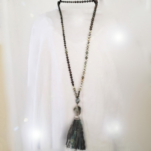 Manifestation of Magic and Miracles Mala (worn long)