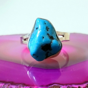Mountain View (Turquoise and sterling silver ring, Size 6.5, $80)