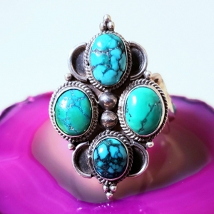 Royalty (Turquoise and sterling silver ring, Size 8)