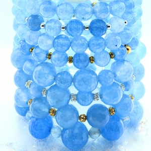 Stackables in Blue (Single Strand bracelets)